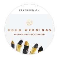 wedding photographer featured on wedding blog