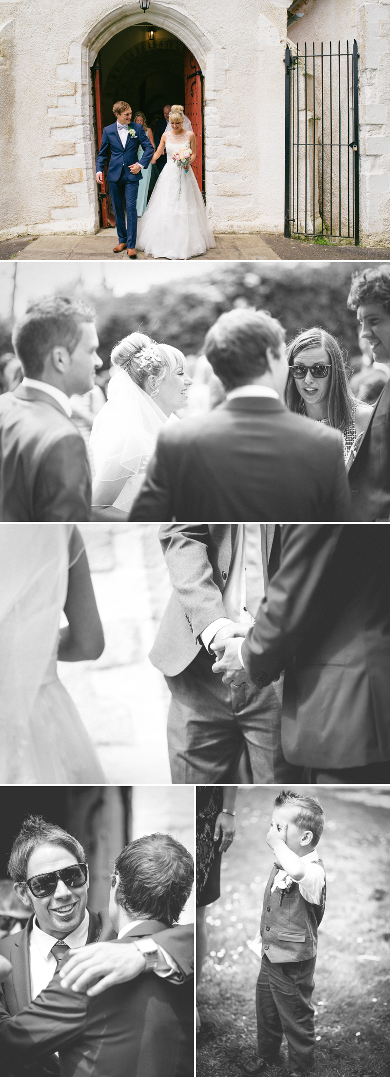 newlyweds coming out of the church photos