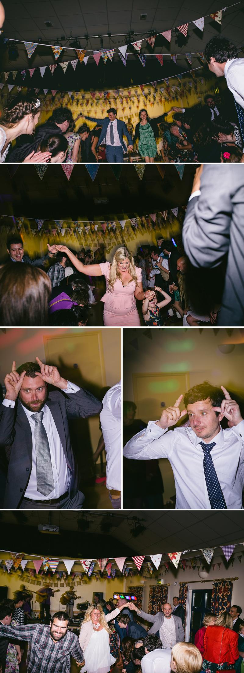 light trails dance floor wedding