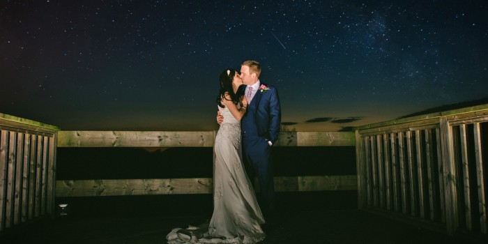 Lancashire wedding stars jetty