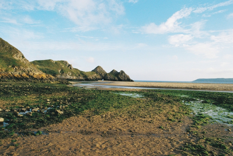 three cliffs bay landscape