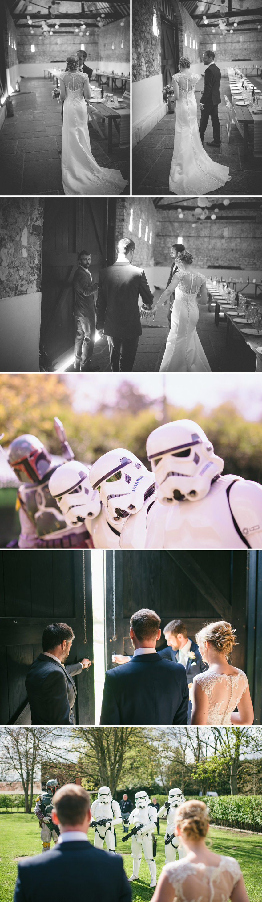 storm troopers at a wedding