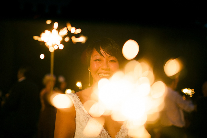sparklers outside at homme house