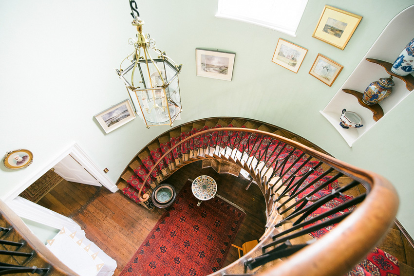 Spiral staircase in Homme House