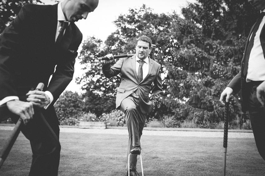 croquet man on field