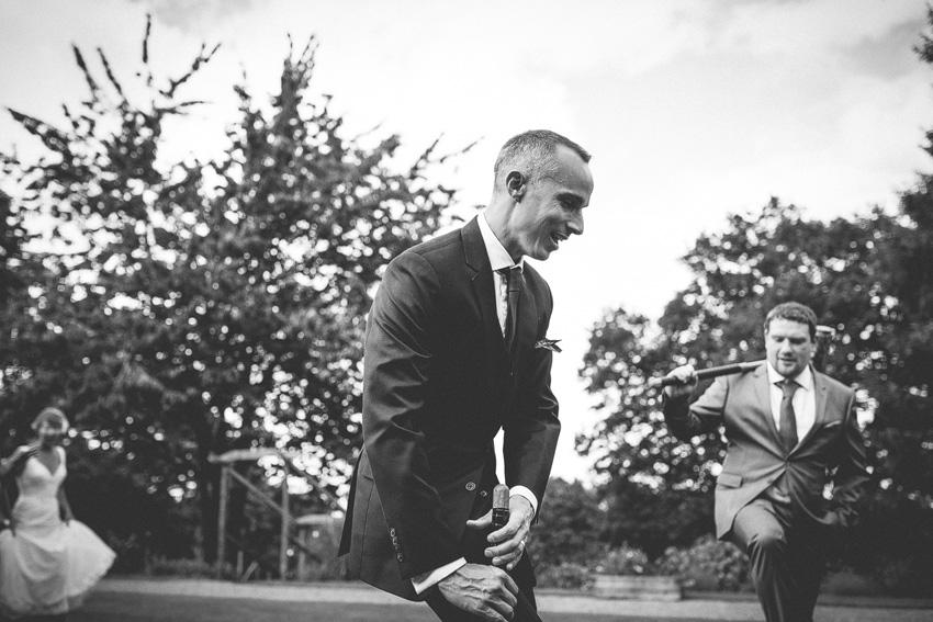 groom plays croquet