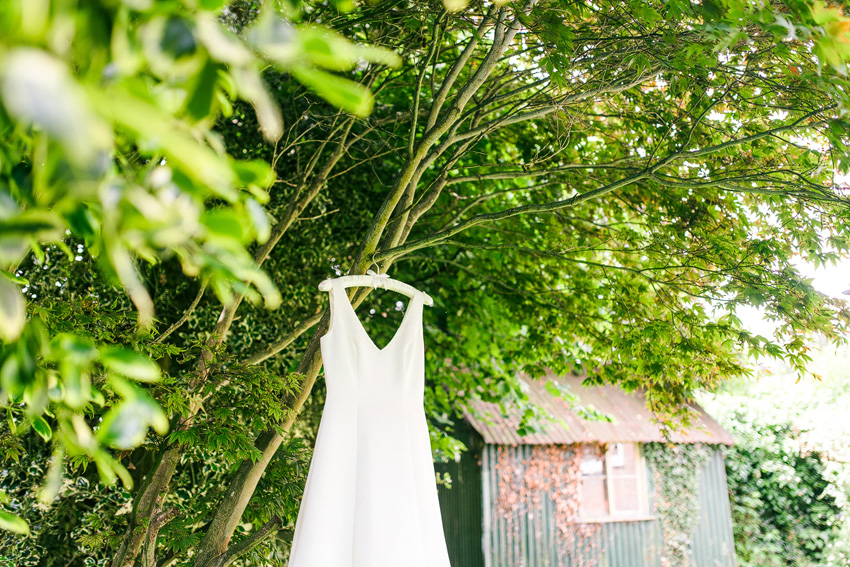 weddings dress hanging