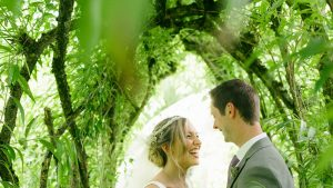 Westonbury water mill gardens wedding photo