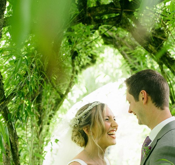 Westonbury water mill gardens wedding photo