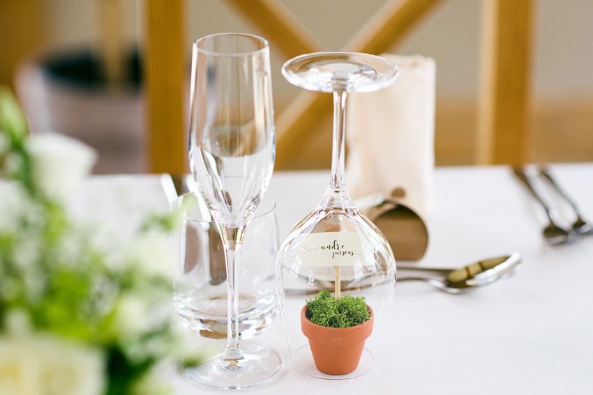 plant pot wedding favour