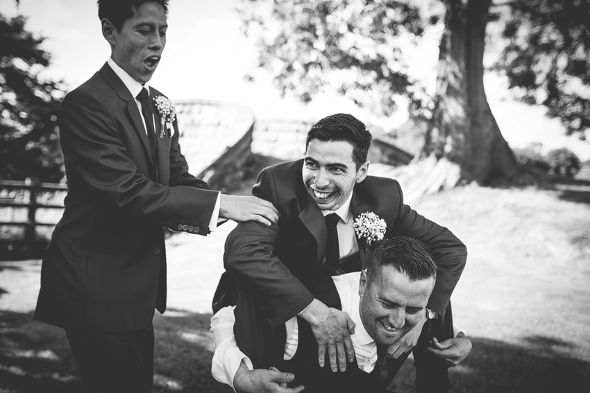 groomsmen having a laugh