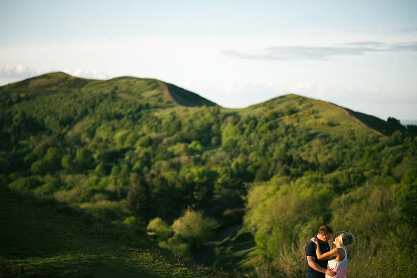 malvern hills engagement shoot