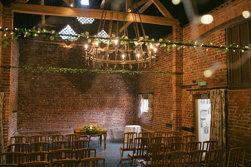 curradine barns ceremony room