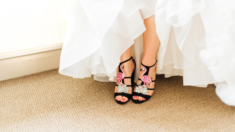 wedding flamingo shoes