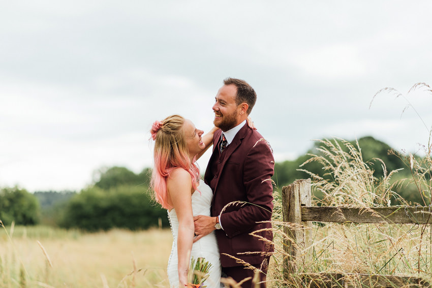 awesome bride and awesome groom