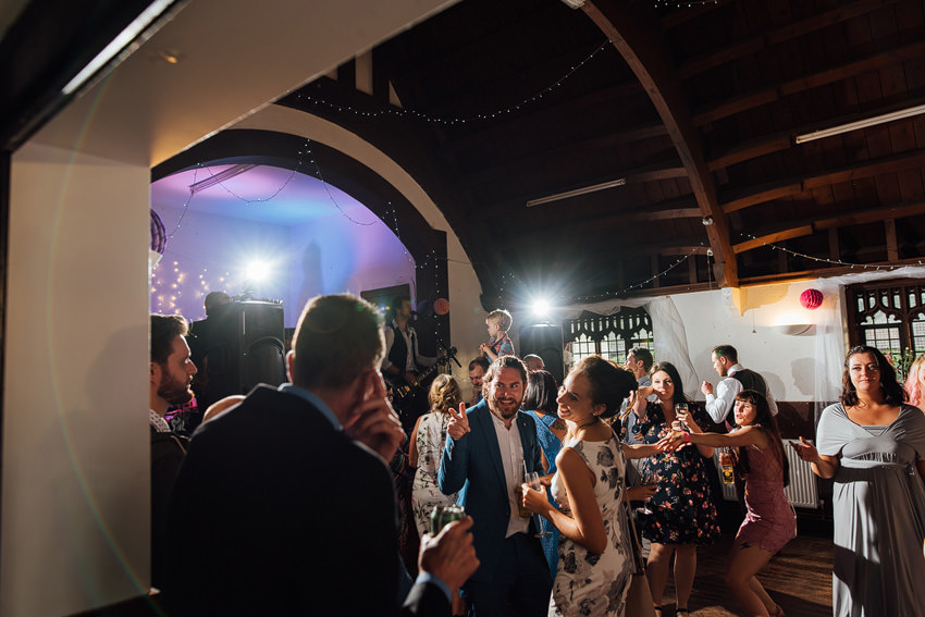 party at a wedding
