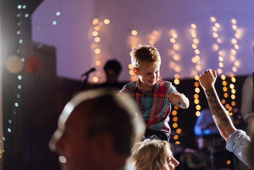 kids partying at a wedding