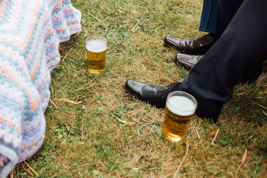 beer during the wedding ceremony