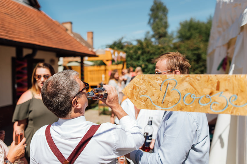 booze documentary wedding photo