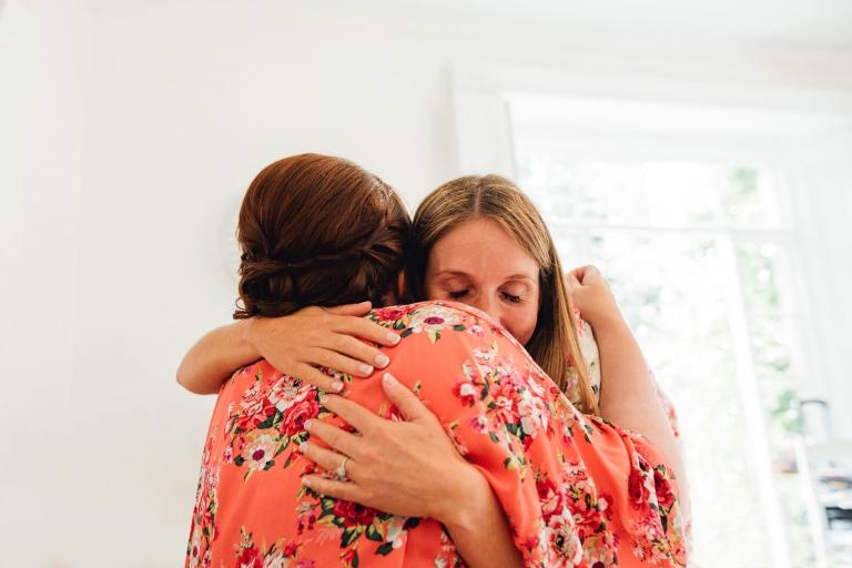 bridesmaids hug